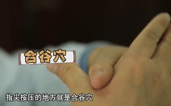 用吹风机吹胃部就能治打嗝 拇指的第一节横纹按压过来指尖按压的地方就是合谷穴—辨真伪网