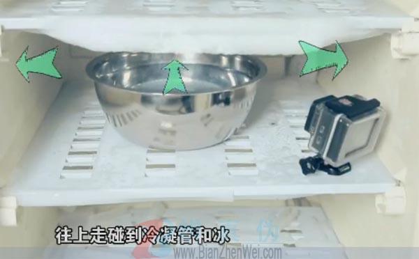用热水就能轻松给冰箱除霜是真的。整个冰箱里都在对流,所以它能很快把热量传递给冰——辨真伪网