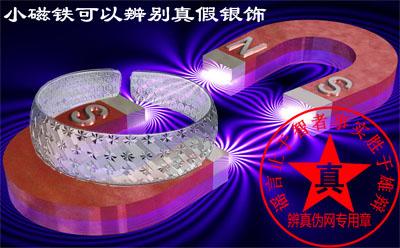 小磁铁可以辨别真假银饰的说法是真的——辨真伪网