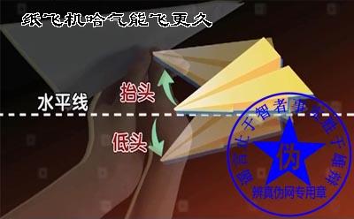 纸飞机哈气能飞更久的方法是假的。纸飞机的飞行时间也与投掷力量,纸张大小以及质量有关——辨真伪网