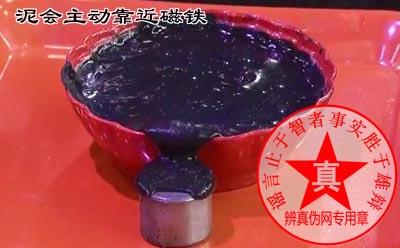 泥会主动靠近磁铁是真的。在原油泄漏的处理上面先是将亚铁纳米离子和石油混合,然后再用磁铁去吸油污时就会主动地靠近——辨真伪网